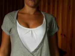 sliczna szaro biał bluzeczka
