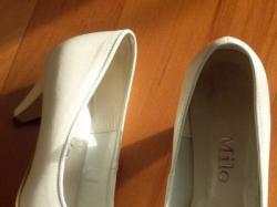 Śliczne buty ślubne, ecru. kremowe 36-37