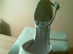 Śliczne buty ślubne w kolorze ecru rozmiar 38