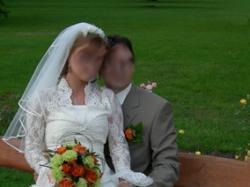 Śliczne koronkowe  bolerko ślubne