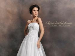 ŚLUB biała TIULOWA model 10444 suknia ślubna AGNES 34 36