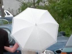 Ślubna koronkowa parasolka