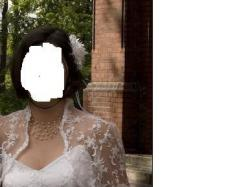 ślubna suknia z francuską koronką