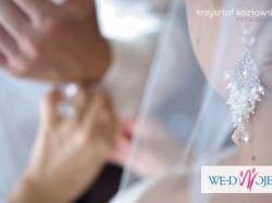 Ślubne srebrne kolczyki perły kryształy Swarovski