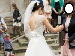 śmietankowa suknia ślubna Margarett