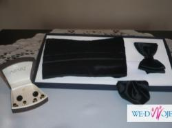 Smoking z dodatkami na ślub Włoskiej firmy Dino Salvani