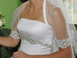 Snieżno biała suknia ślubna