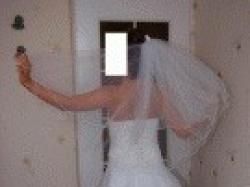 śnieżnobiała,piękna suknia ślubna