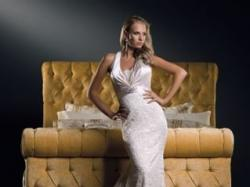 Śnieżnobiała suknia Justin Alexander