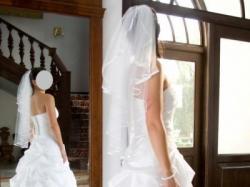 Śnieżnobiała suknia ślubna 36-38 2008