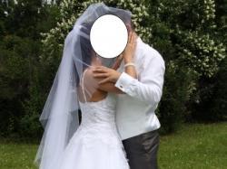 Śnieżnobiała suknia ślubna 36/38 a'la Księżniczka 1000zł