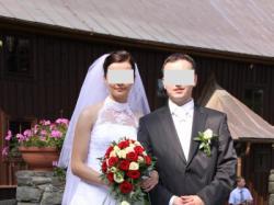 Śnieżnobiała suknia ślubna!