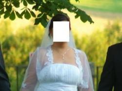 Śnieżnobiała suknia ślubna biała 44