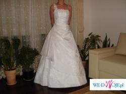 Śnieżnobiała suknia ślubna roz.34-36