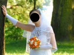 Śnieżnobiała suknia ślubna, roz. M/L jak nowa !!!