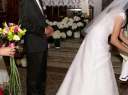 śnieżnobiała suknia ślubna SARAH 36/38