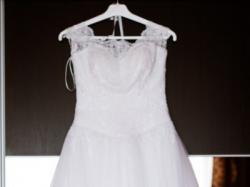 Śnieżnobiała suknia ślubna w stanie idealnym!