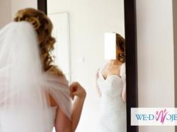 śnieżnobiała suknia ślubna z kolekcji Agora
