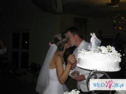 snieżnobiały welon ślubny