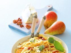 Spaghetti z gruszkami