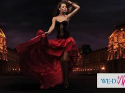 Spódnica w stylu flamenco