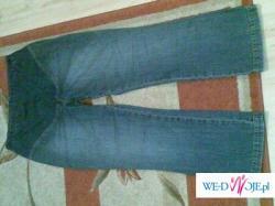 spodnie ciążowe i tunika sztruksowa
