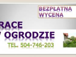 Sprzątanie ogródków działkowych, cena tel. 504-746-203. Wrocław. Porządkowanie działek.