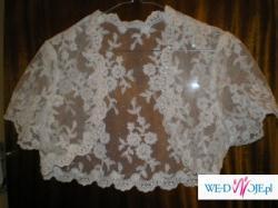 Sprzedam 3-częściową suknie ślubną w kolorze białym (gorset,bolerko,spódnica).
