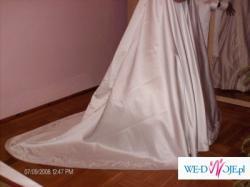 Sprzedam Bajkową Suknię Ślubną rozm40, biust 80B w tymi bolerko z długim rękawem