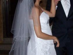 Sprzedam biał suknię ślubną rozmiar 36/38