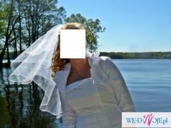 Sprzedam białą 2-częściową suknię ślubną roz.38/40