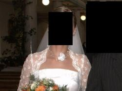 Sprzedam białą, elegancką suknię ślubną, rozmiar 38-40