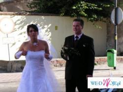 Sprzedam białą jednoczęściową suknię ślubną!!