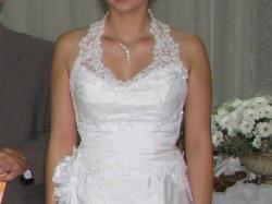 Sprzedam białą jednoczęściową suknię ślubną rozm.40 ZAMOŚĆ