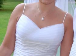 sprzedam białą suknię ślubną 38/40, 163cm wzrostu