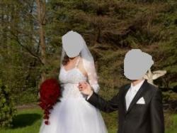 Sprzedam białą suknię ślubną!!!!/38-42 rozm/