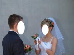 """Sprzedam biała suknię ślubną """"des"""""""