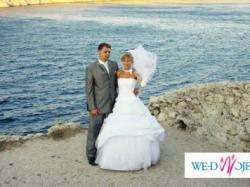 """sprzedam białą suknię ślubną Firmy FARAGE - dół """"GALAXY"""" + gorset """"EMILLIA"""""""