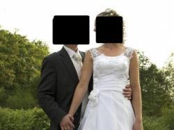 Sprzedam białą suknię ślubną firmy NABLA z Krakowa rozm 36-38