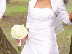 Sprzedam białą suknie ślubną wraz z bolerkiem