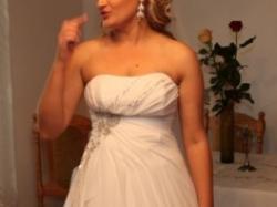 Sprzedam białą suknię ślubną z kolekcji MS Moda