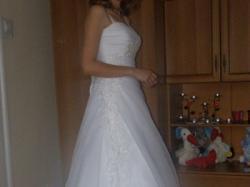 sprzedam białą suknie ślubną z salonu MS Moda, model Oxana 2011 rozmiar 36/38
