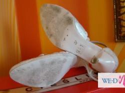 Sprzedam białe buty ślubne r.37