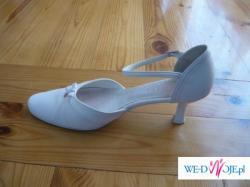 Sprzedam buty ślubne, białe, ze skóry, rozmiar 40