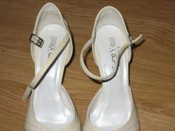Sprzedam buty ślubne ecru / śmietanka r.36/37