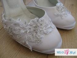 Sprzedam buty ślubne - śliczne i wygodne