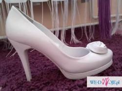 sprzedam buty slubne topbut 36 białe