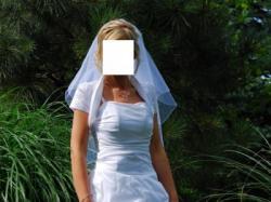 Sprzedam delikatną, skromną suknię ślubną