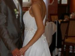 Sprzedam delikatną, zwiewną suknię w stylu greckim (Lilea Perle 3909)