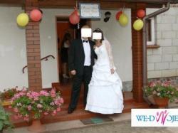 Sprzedam dwuczęściową suknię ślubną z dodatkami,rozm 36-38